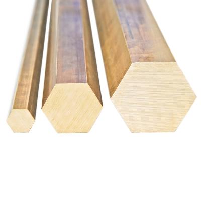 Messing Sechskant 6kt - SW 10 mm - L: 100 mm - weitere Längen auswählbar - 1