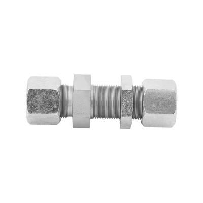SV 8 L - 8 mm - Stahl verz. - gerade Schottverschraubung - Rohrverschraubung DIN 2353 - 1