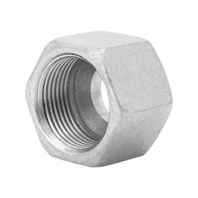 M 22-L - 22 mm - Stahl verz. - Überwurfmutter - Rohrverschraubung DIN 2353 - 1