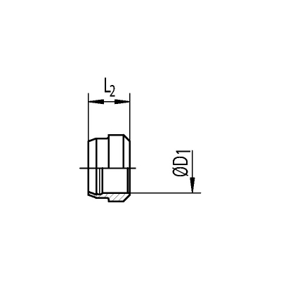 DPR 35-L - 35 mm - Stahl verz. - Schneidring - Rohrverschraubung DIN 2353 - 1