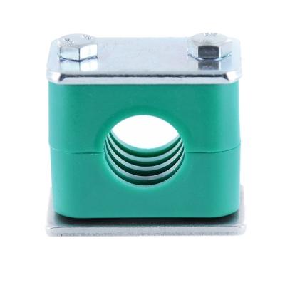 Hydraulik Rohrschelle - Schlauchschelle mit Anschweißplatte - 22 mm - 1