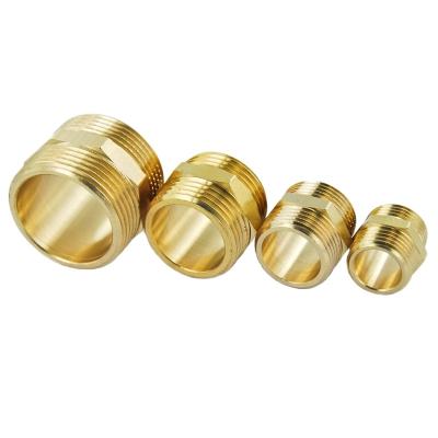 #522 Doppelnippel mit Sechskant aus Messing - 1/4