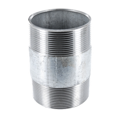 #23V Rohrdoppelnippel Stahl verzinkt - 3