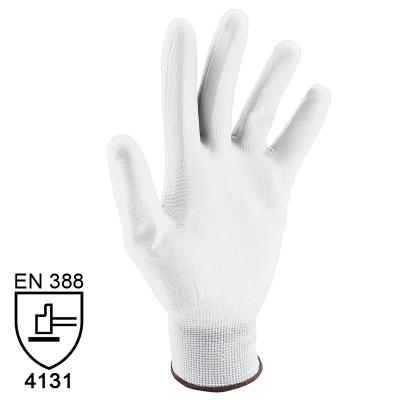 Nylon Handschuhe Arbeitshandschuhe mit PU Beschichtung EN388 - Art. 3700 Weiß - Gr. 10 / XL - 1 Paar - 1