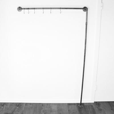 ÖVELGÖNNE V1 schwarz - Kleiderstange / Garderobe inkl. 6 Kleiderhaken- Industriestil - 1