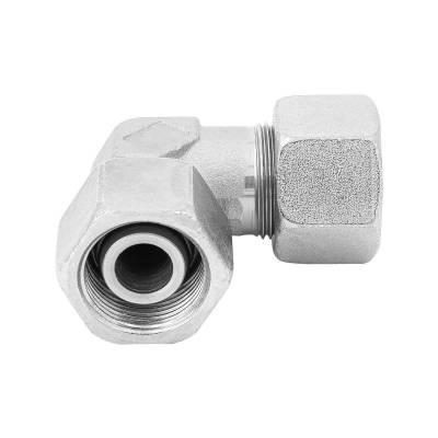 EW 18 L - Stahl verz. - Winkel-Stutzen einstellbar m. Dichtkegel - Rohrverschraubung DIN 2353 - 1