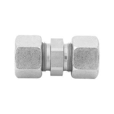 G 38 S - 38 mm - Stahl verz. - gerader Stutzen - Rohrverschraubung DIN 2353 - 1