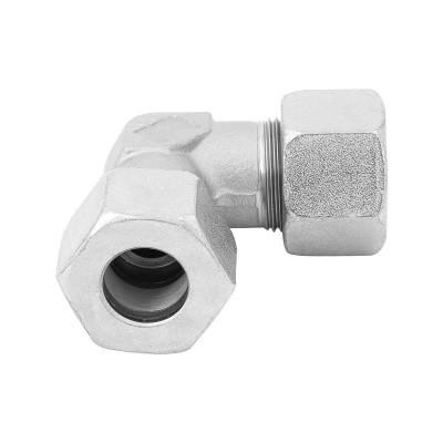 W 6 L - 6 mm - Stahl verz. - Winkel-Stutzen - Rohrverschraubung DIN 2353 - 1