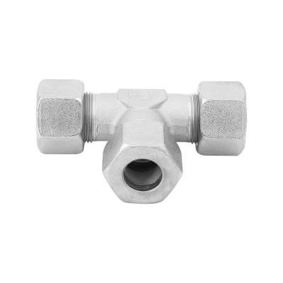 T 16 S - 16 mm - Stahl verz. - T-Stutzen - Rohrverschraubung DIN 2353 - 1