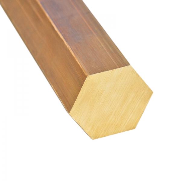 Messing Sechskant 6kt - SW 10 mm - L: 100 mm - weitere Längen auswählbar - 2