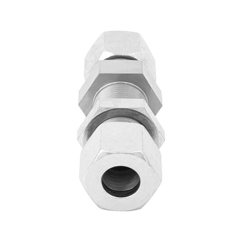 SV 8 L - 8 mm - Stahl verz. - gerade Schottverschraubung - Rohrverschraubung DIN 2353 - 3