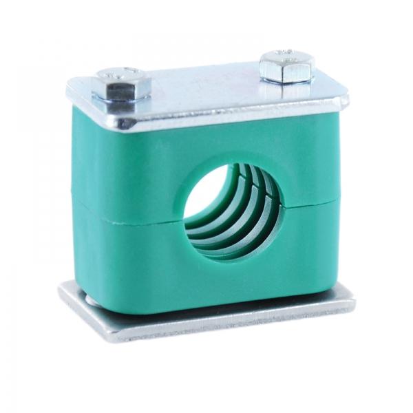 Top Hydraulik Rohrschelle - Schlauchschelle mit Anschweißplatte - 10 KI23