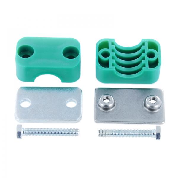 Hydraulik Rohrschelle - Schlauchschelle mit Anschweißplatte - 22 mm - 3