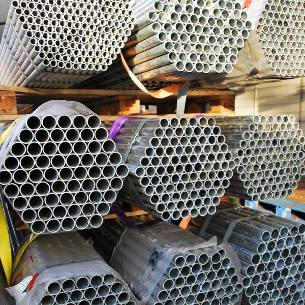 Gewinderohr / Stahlrohr - geschweißt - glatte Enden - verzinkt <br /> 2