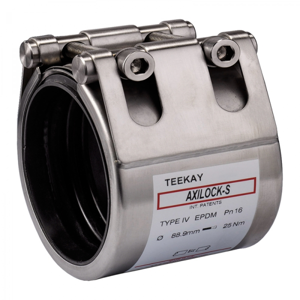 Teekay Axilock-S Rohrkupplung - Typ IV Edelstahl - EPDM - 21,3 mm - 2