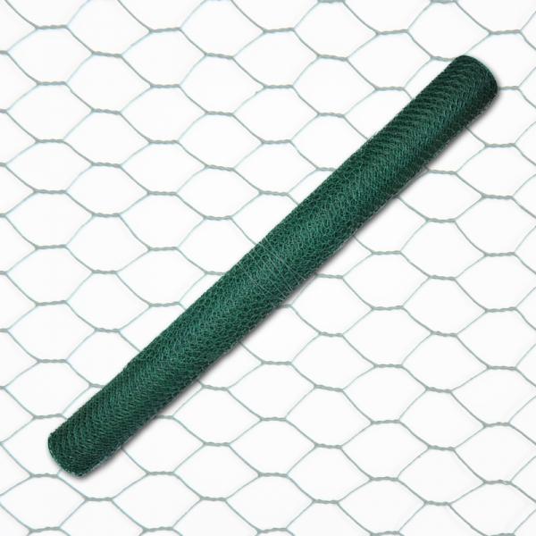 6eck Geflecht - grün - MW: 25mm - B: 500mm - 25m Rolle - 2