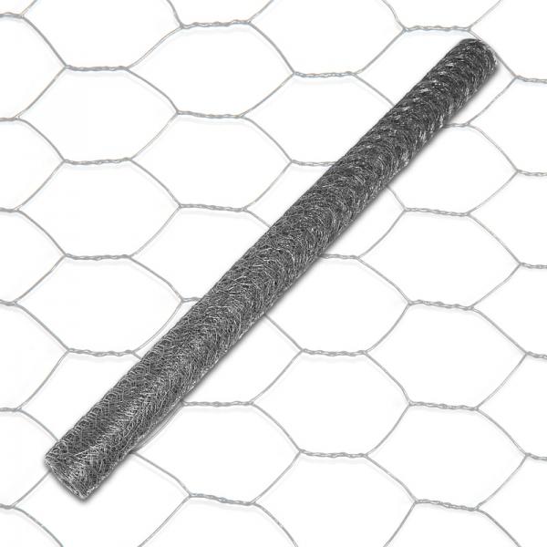 6eck Geflecht - ANTHRAZIT - MW: 25mm - B: 500mm - 10m Rolle - 3
