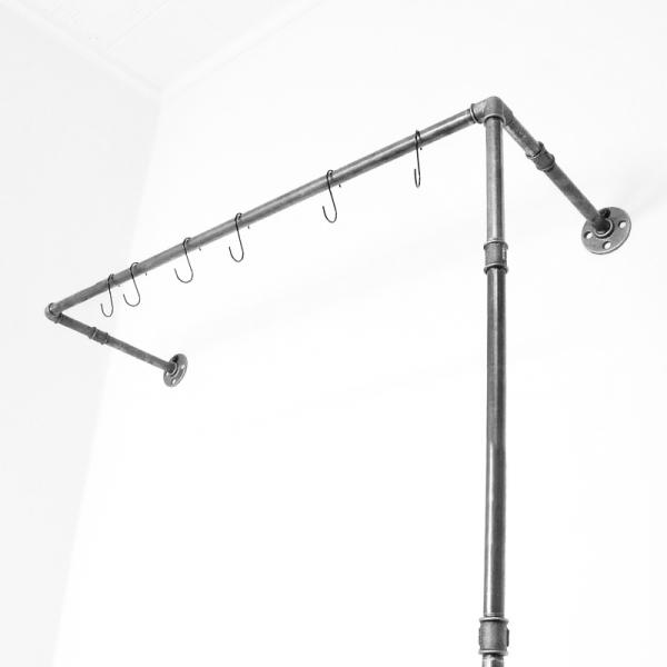 ÖVELGÖNNE V2 schwarz - Kleiderstange / Garderobe inkl. 6 Kleiderhaken - Industriestil - 2