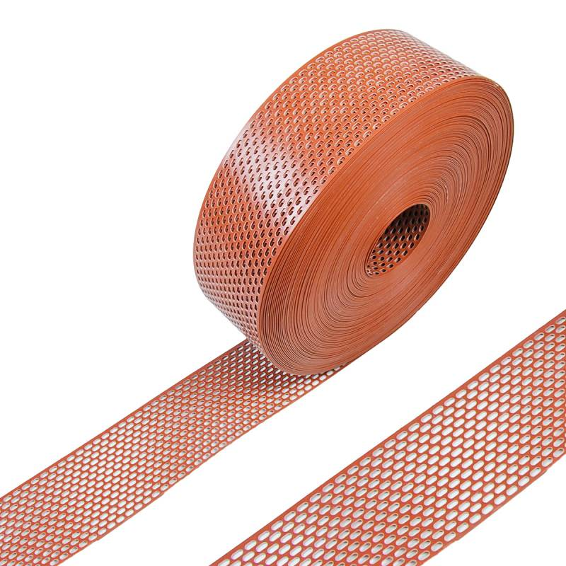 Vogelschutzgitter 5 Meter PVC 100 mm breit rot