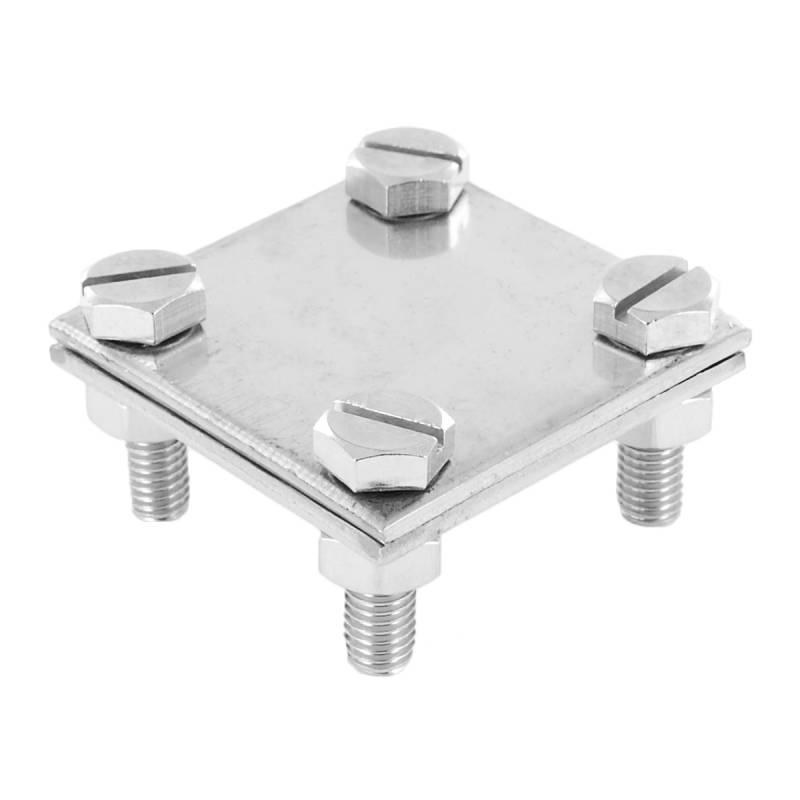 Kreuzverbinder V4A Edelstahl flach/flach - für Erdungsband bis 30 mm ...