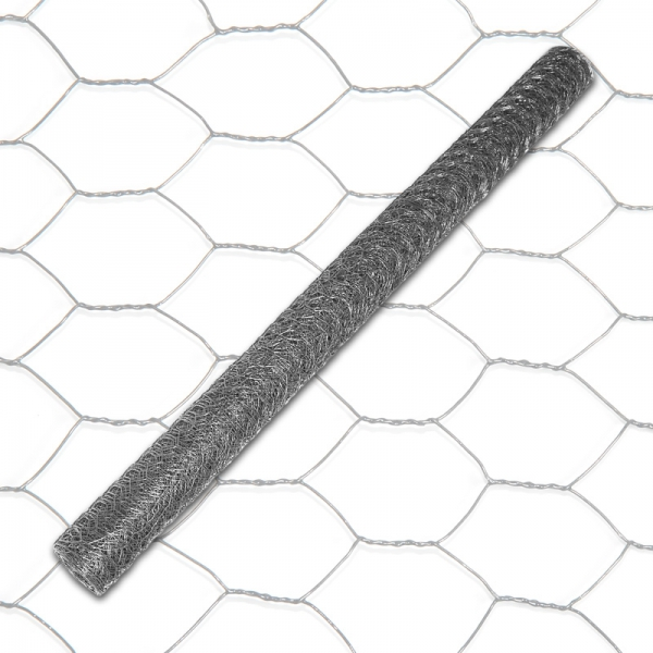 Indutec 6eck Geflecht - ANTHRAZIT - MW: 13mm - B: 1000mm - 25m Rolle - 3