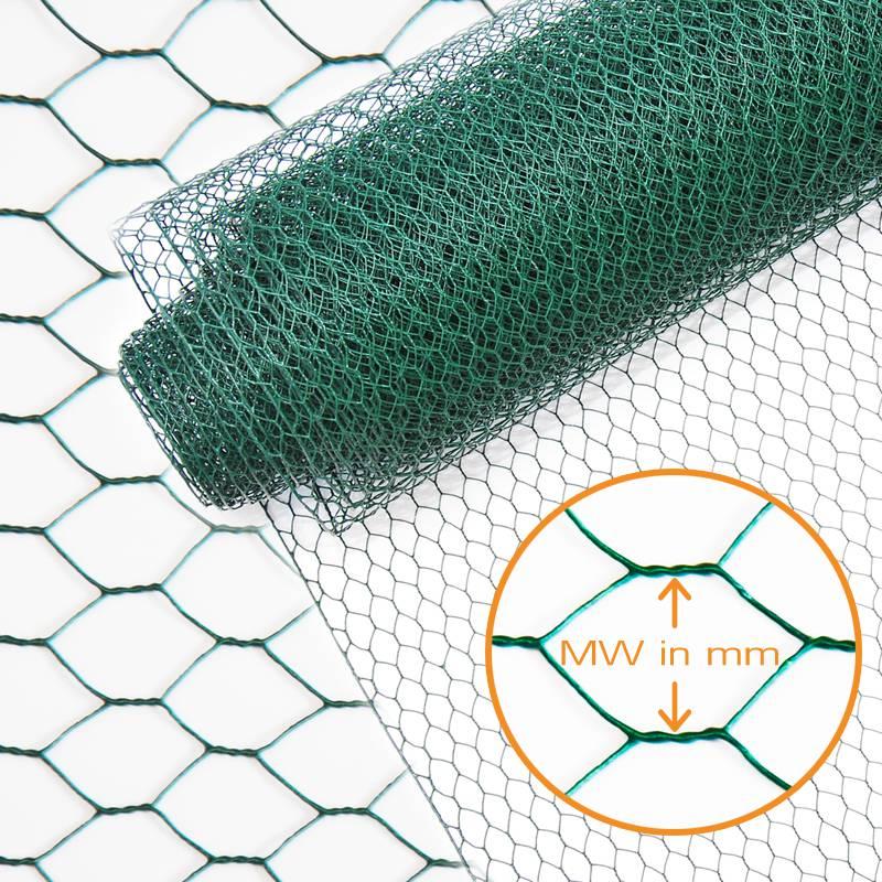 Indutec 6eck Geflecht - grün - MW: 25mm - B: 1000mm - 25m Rolle - 3