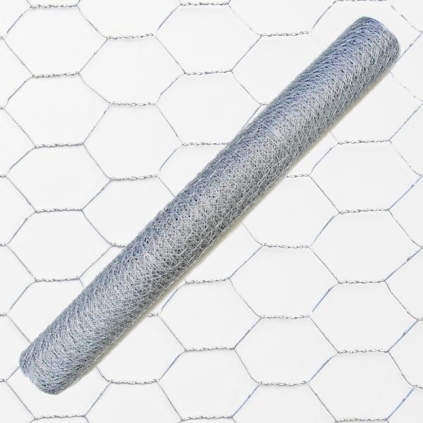 6eck Geflecht - verzinkt - MW: 40mm - B: 1200mm - 50m Rolle - 2