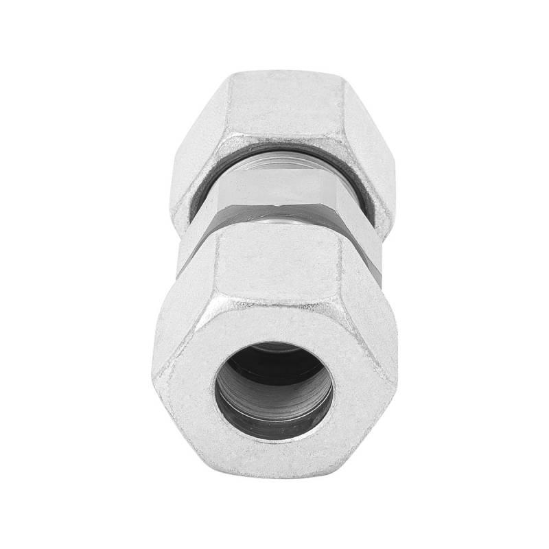 G 6 L - 6 mm - Stahl verz. - gerader Stutzen - Rohrverschraubung DIN 2353 - 2