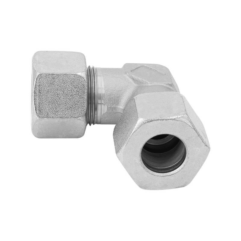 W 6 L - 6 mm - Stahl verz. - Winkel-Stutzen - Rohrverschraubung DIN 2353 - 2