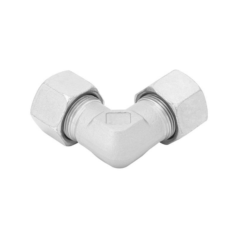 W 6 L - 6 mm - Stahl verz. - Winkel-Stutzen - Rohrverschraubung DIN 2353 - 3